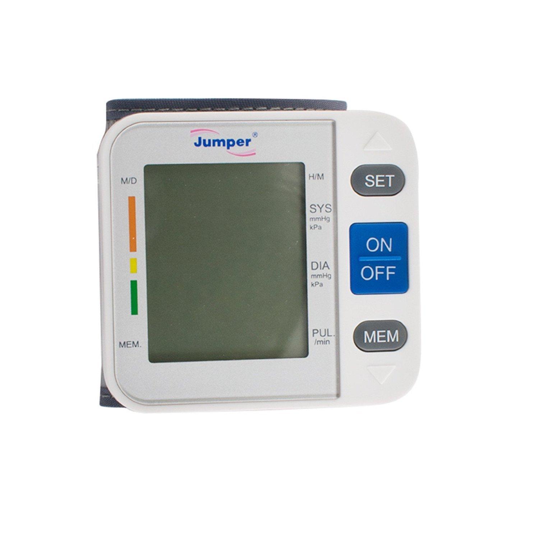Denshine tensiometro digital de muneca con pantalla LCD digital Operacion de un toque Automaticamente apagado para ayudar a prolongar la vida util de la ...