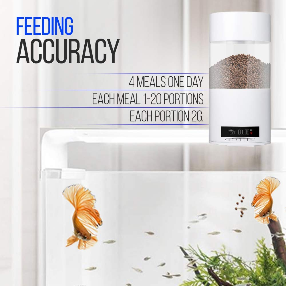SereneLife Smart Digital Fish Food Dispenser - Automatic Fish Feeder for Fish Tanks and Aquariums - Programmable Battery Operated Vacation/Weekend Auto Fish Feeder Aquarium Feeding Station SLAFF76 by SereneLife (Image #3)