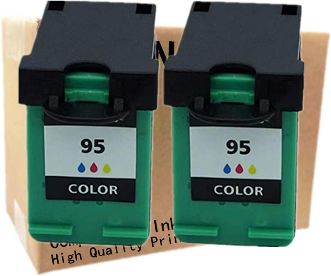 No-name Remanufactured Ink Cartridges Replacement for HP 95 XL 95XL HP95 HP95XL Photosmart 2610 2710 7830 8150 8450 8750 375 325 Officejet 6210 7210 7410 Printer (2 Pack)