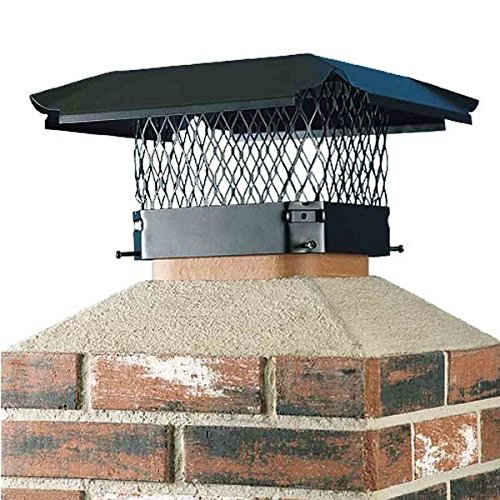 King Black Single Draft (Draft King CBO1515 Bolt On Black Galvanized Steel Single Flue Chimney Cap, 15
