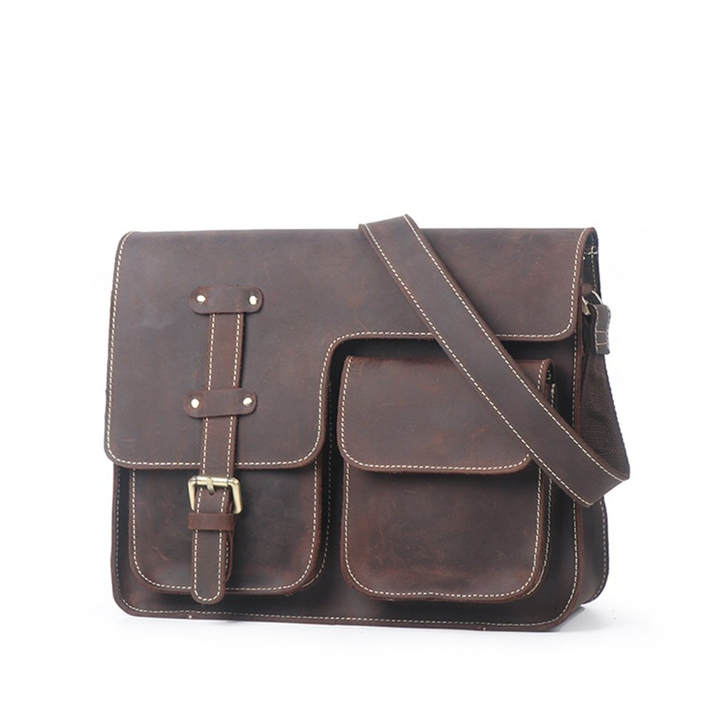 31x10x24cm Retro//Black Brown XFRJYKJ- Mens briefcase Business Briefcase Casual Leather Bag Cross Section Shoulder Messenger Bag Mens Tide Bag Color : Earth Yellow