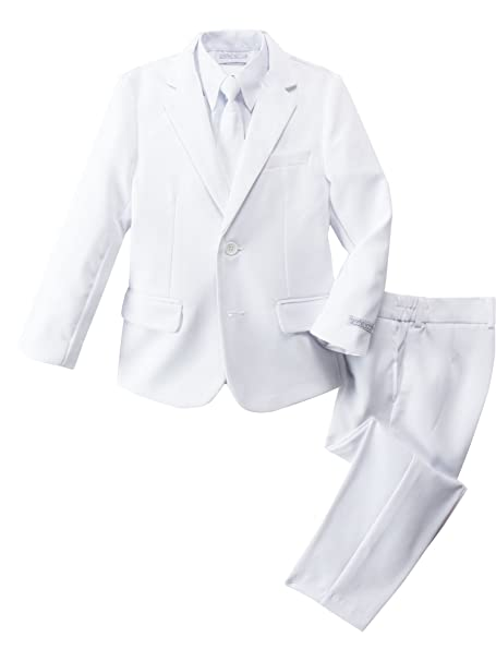 Spring Notion Little Boys Modern Fit Dress Suit Set White