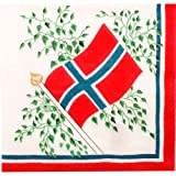 Norway Flag Luncheon Napkin - New 30 Pk.