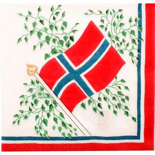 Norway Flag Luncheon Napkin - New 30 Pk.
