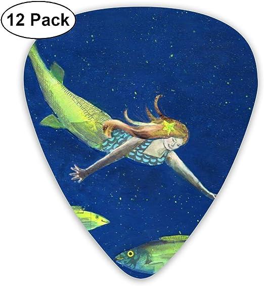 Slaytio - Juego de 12 púas de Guitarra de Sirena, 0,96 mm, 0,71 mm ...