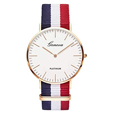 Amazon.com: Nylon Strap Style Quartz Women Watch Top Brand Watches Fashion Casual Fashion Wrist Watch Relojes 1: Jewelry
