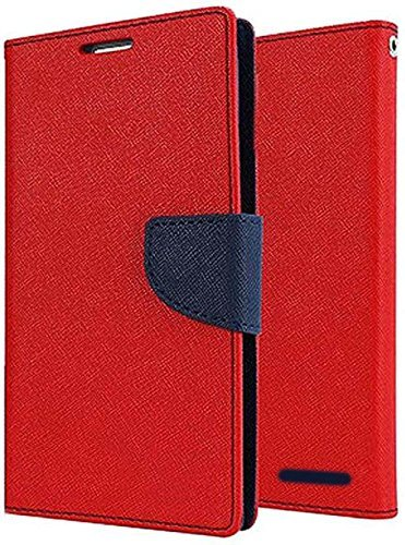 FINDX Luxury Diary Wallet Style Flip Cover Case for Oppo A57   Red