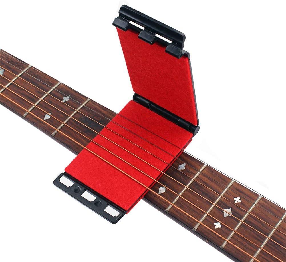 Artibetter Limpiador de cuerdas Limpiador de cuerdas y diapasones para guitarras eléctricas y acústicas (rojo)