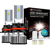 4WDKING 9007/HB5 LED Headlight Bulbs, Upgrade 60W 8000 Lumens Super Bright LED Waterproof Headlights Conversion Kit…