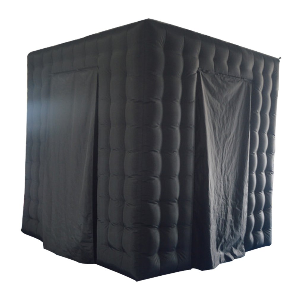 Sayok Black Inflatable Photo Booth Frame Photo Booth Enclosure with Air Blower for Wedding Party Birthday by Sayok