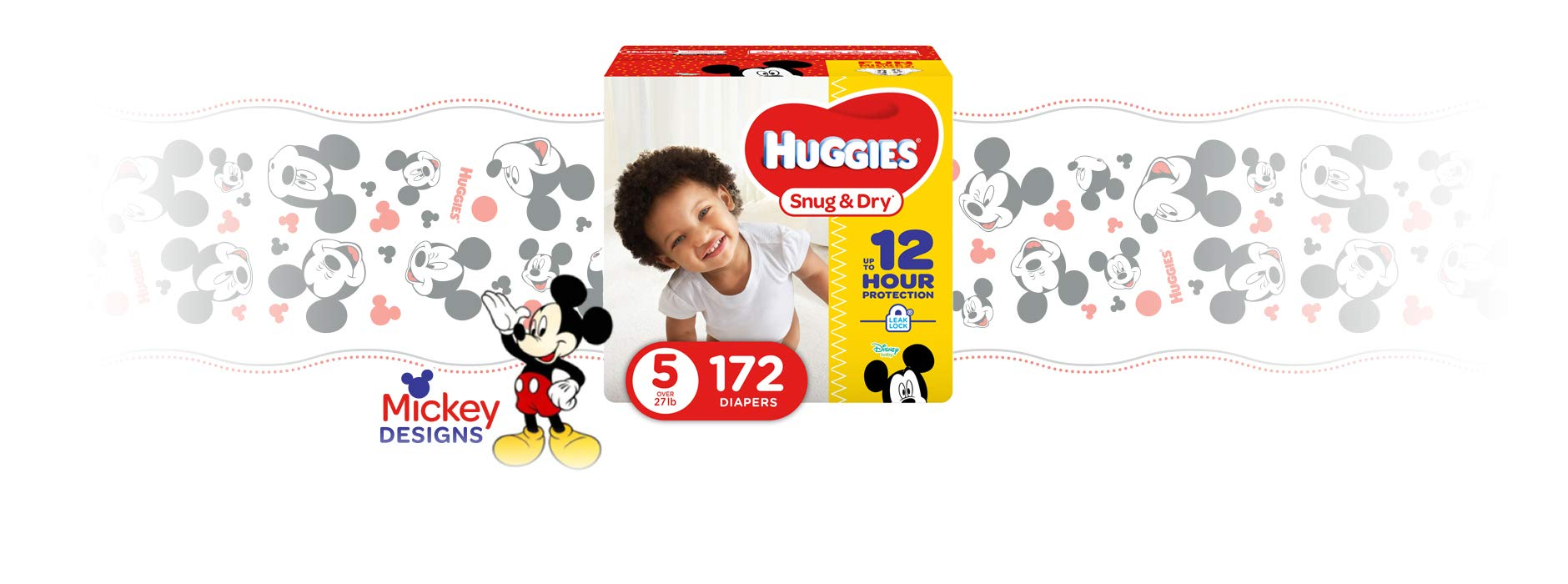 HUGGIES Snug & Dry Diapers, Size 5, 172 Count (Packaging May Vary) by Huggies (Image #2)