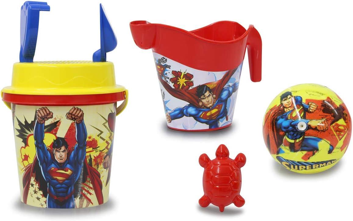 Jamara 410133 Superman - Juego de Cubo y Pala (7 Piezas), Color ...