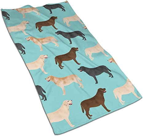 Magic Jame 3d Cute Labradors Yellow Chocolate Black Lab Pet Dogs Soft Guest Hand Towel For Bathroom Hotel Gym And Spa 16 X 27 Inches Home Kitchen