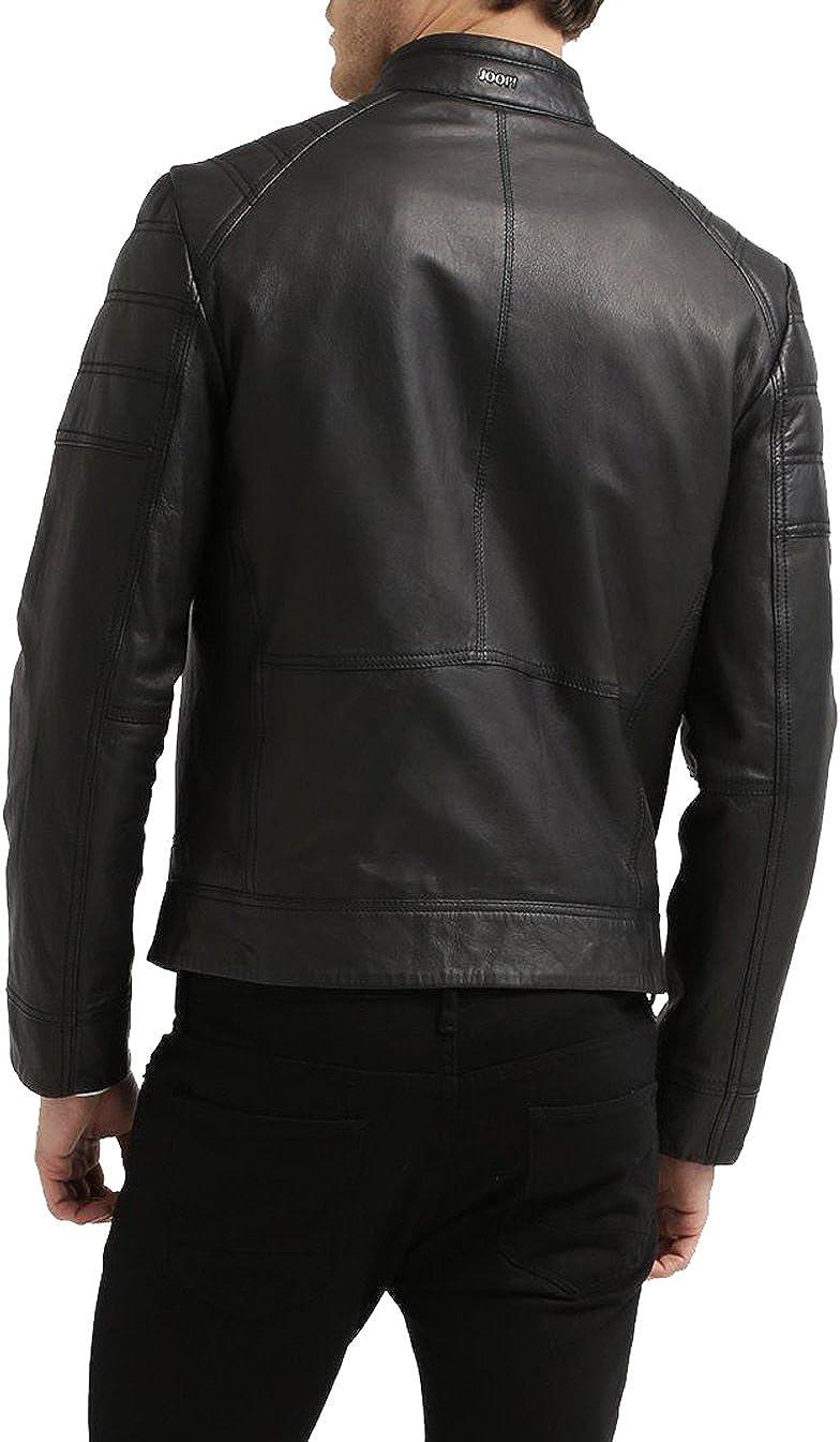 Men Leather Jacket Coat Motorcycle Biker Slim Fit Outwear Jackets T1104