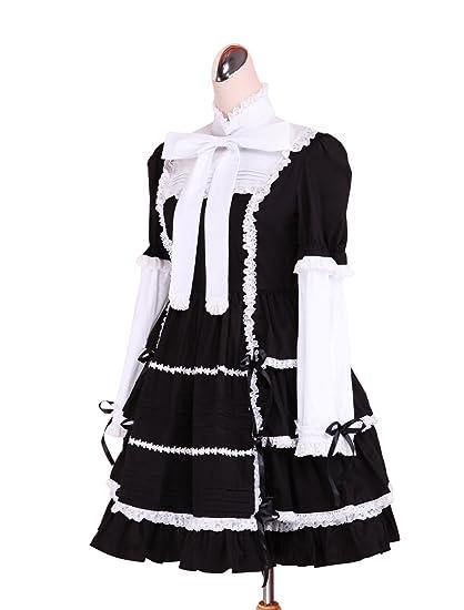 antaina Corbata de encaje con volantes de algodón negra Corbata de encaje retro con vestidos Góticos de Lolita: Amazon.es: Ropa y accesorios