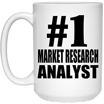 number one 1 market research analyst 15 oz coffee mug ceramic cup