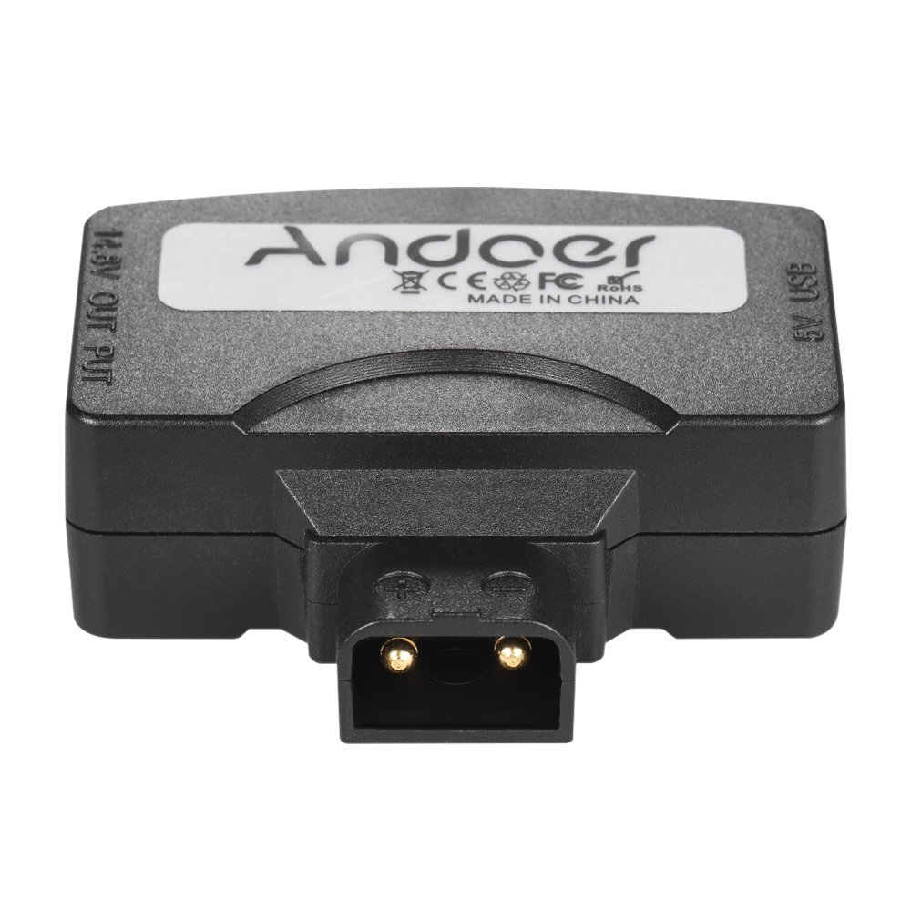 Andoer D-Tap Para 5V USB Adaptador de Conector para V-Mount Cá mara Baterí a para BMCC para iOS Android Smartphone Monitor