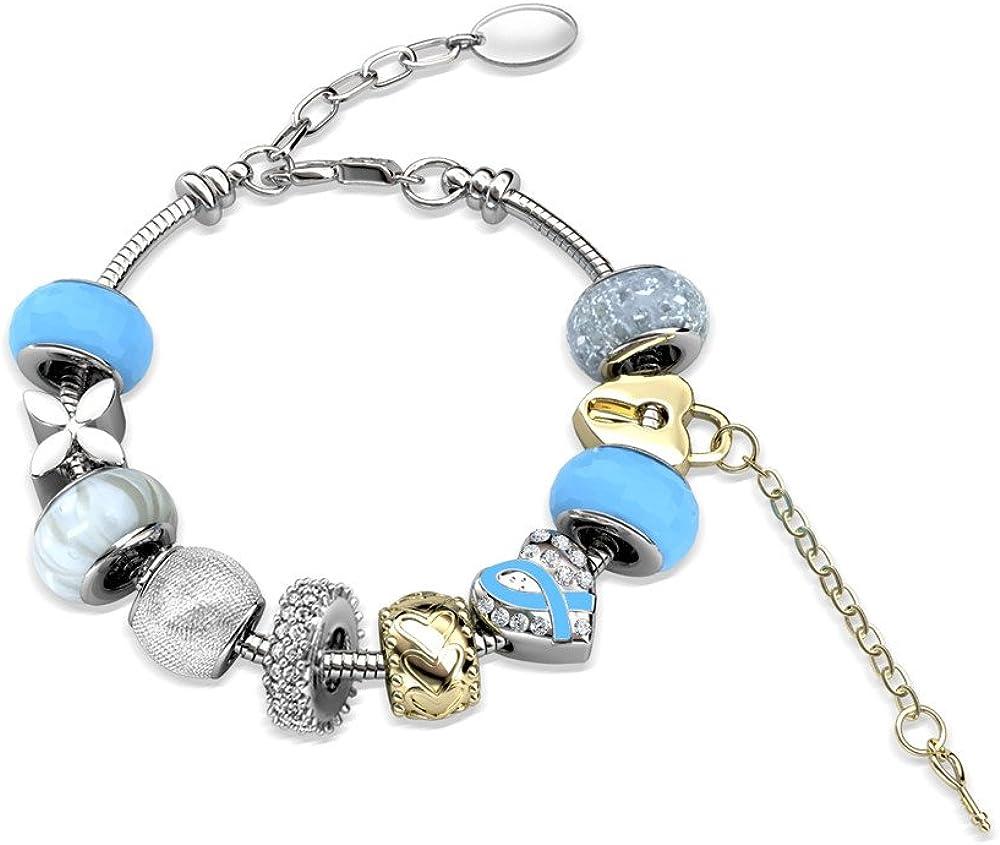 YOURDORA Mujer con Cristales Swarovski Pulsera de Charms Originales Azul Joyas de Fiesta de Moda