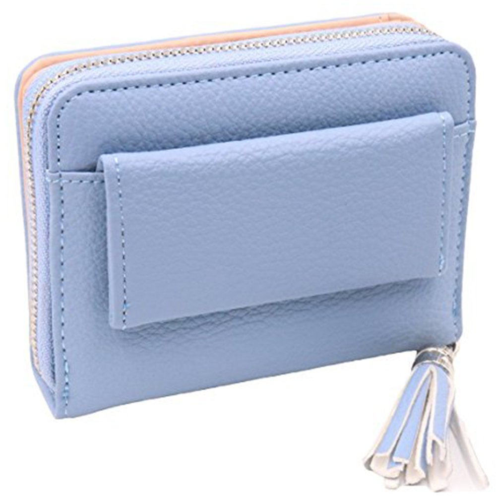 Women's RFID Blocking PU Leather Wallet Card Holder Organizer Girls Small Cute Coin Purse with ID Window by Calsoling (Image #1)