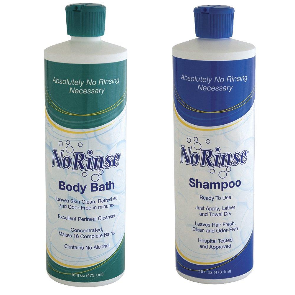 NO RINSE! Shampoo & Body Bath No Water (Set of 2)
