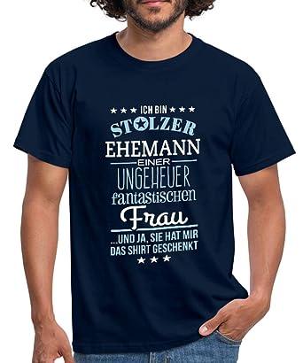 732609cde77acb Spreadshirt Stolzer Ehemann Einer Fantastischen Frau Männer T-Shirt:  Amazon.de: Bekleidung