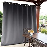 NICETOWN Outdoor Curtain Panel for Patio - Vertical Blinds Thermal Insulated Grommet Extra Wide Blackout Door Curtain/Drape for Party/Sun Room/Terrace
