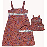 Size 7 Matching Girl And Doll Bright Sundresses With Purses