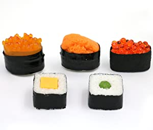 Nice purchase Artificial Sushi Sample Fake Food Simulation Realistic Lifelike Nigiri Onigiri Dessert for Decoration Display Props Model Rice Roll