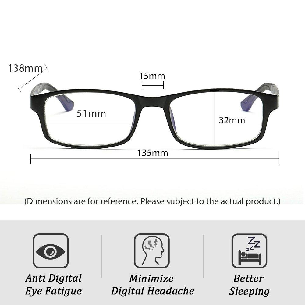 Cyxus Blue Light Blocking [Lightweight TR90] Glasses for Anti Eye Strain Headache Computer Use Eyewear, Men/Women (TR90 black) by Cyxus (Image #5)