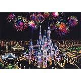 スクラッチアート MeRaPhy スクラッチ ペン セット 塗り絵 世界の夜景 夢の城 全9種類 ペーパーアート (単品)