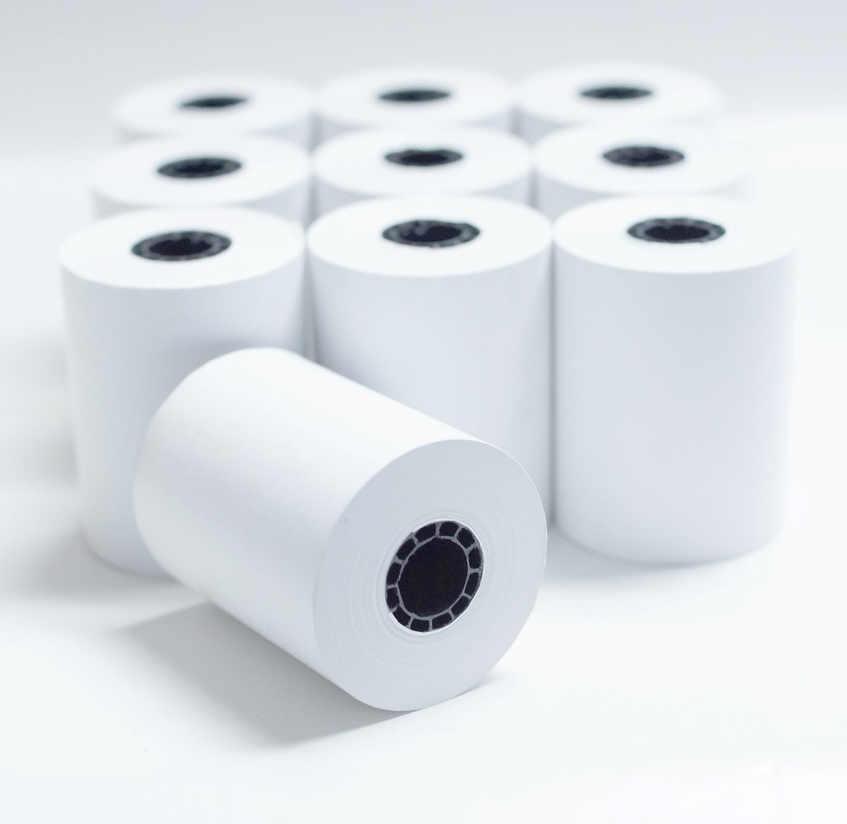 2 1/4'' x 85' White Thermal Paper Credit Card & Cash Register Tape - Pack of 10 Rolls by Body-N-Home