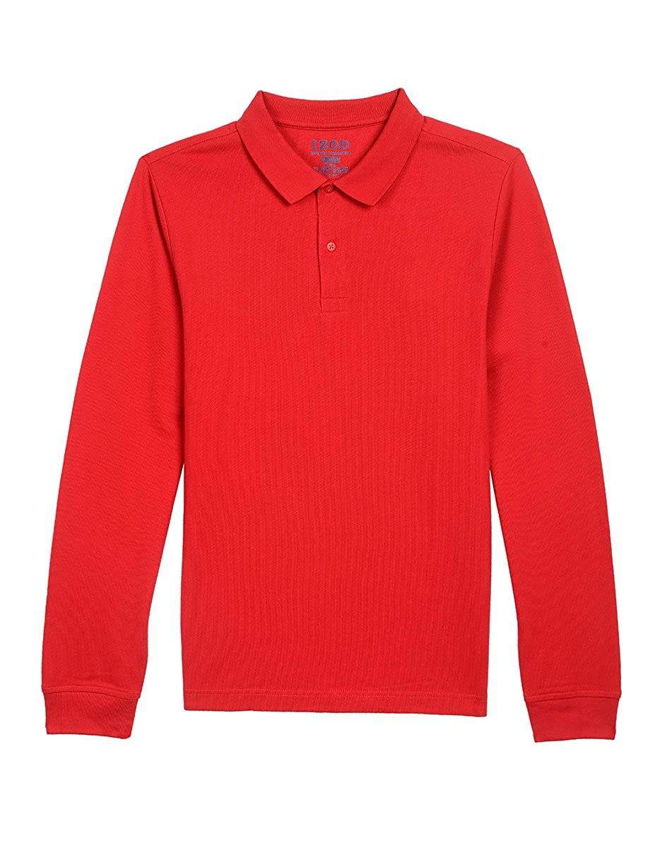 IZOD Uniform Young Men's Long Sleeve Pique Polo Z981705P