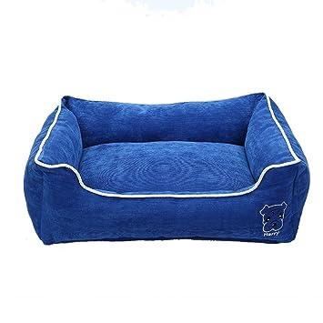 Cama para Perro Cama de Mascota Suave al Agua Fácil Limpieza Azul S: Amazon.es: Productos para mascotas