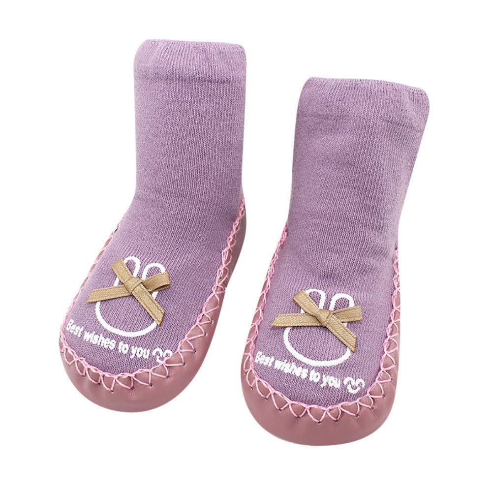 Sunenjoy Vêtements Pantoufles Intérieur Filles Garçons Enfants Chaussettes Antidérapantes Peigné Respirant Hiver Chaude Chaussons Premier Pas Bébé Unisex