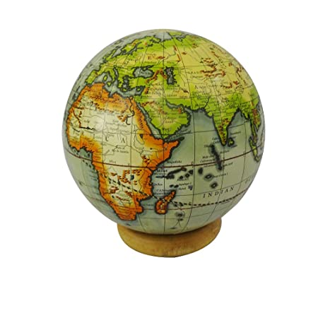 World map globe with wooden stand round shape 4 ball globe beige world map globe with wooden stand round shape 4 ball globe beige home dcor decorative gumiabroncs Gallery