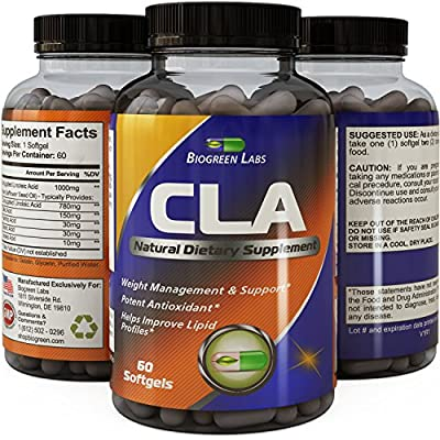 CLA Supplement Safflower Oil Extract - CLA Fat Burner for Women And Men - Maximum Strength Weight Loss And Energy Pills - Bone Health Support - Belly Fat Burner - Great For Body Building And Fitness