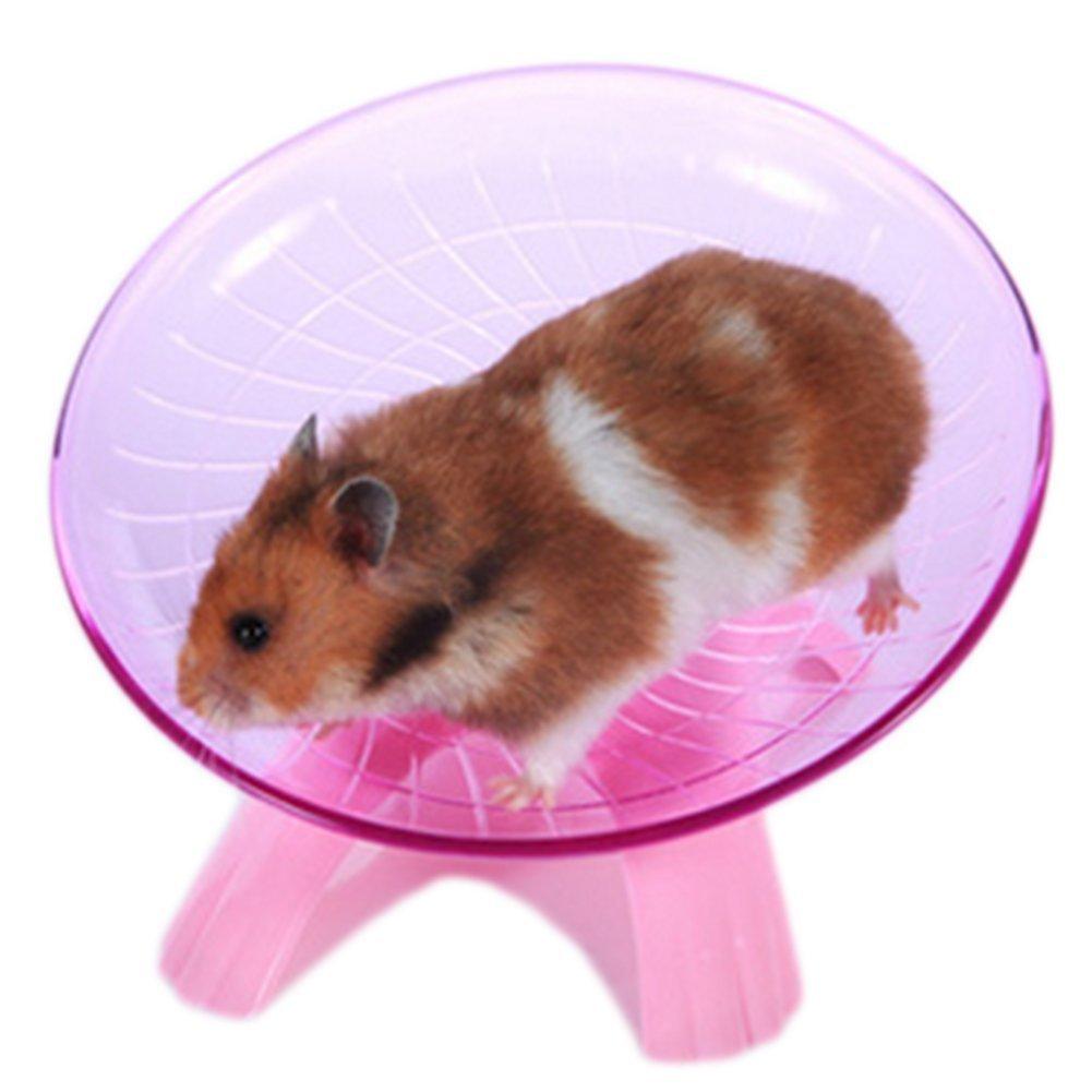 1xToruiwa Hamster Wheel Flying Saucer Wheel for Small Animals Hamster Exercise Toy Hamster Toys (Blue)