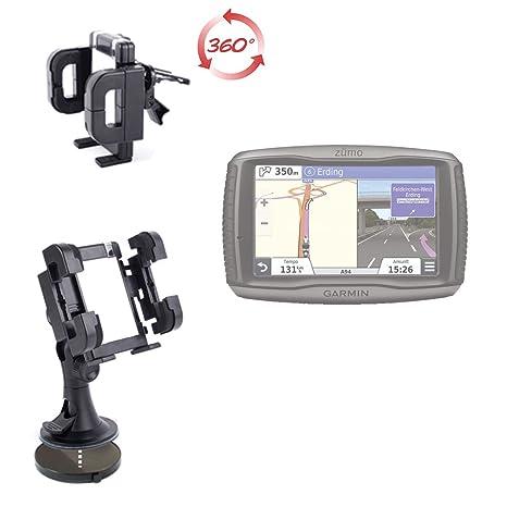 DURAGADGET Soporte Coche Con Abrazadera Para Navegador GPS Garmin Zümo 590 LM