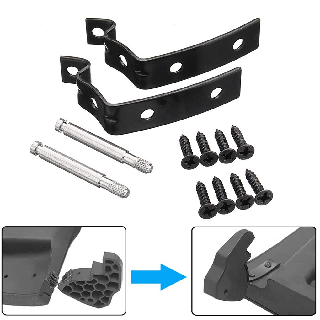heacker Tapa de la guantera Bisagra Kit de reparaci/ón Compatible para Audi A4 S4 RS4 B7 B6 8E 8E2857131 8E2857035 8E0880802 8E2880324