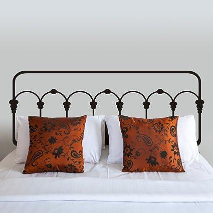 Viynl Testiera letto da parete, in ferro battuto Dorm-Testiera da ...