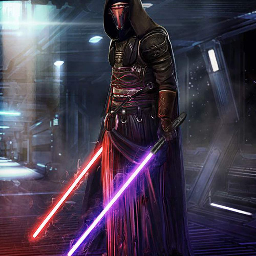 YDD Star Wars LED Light Up Saber Force FX Sword Heavy Dueling, Rechargeable Lightsaber, Loud Sound Hight Light with FOC, Metal Hilt Light Sword (Silver Hilt Blue Blade, Medium) by YDD (Image #7)