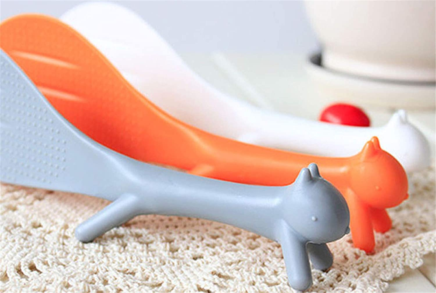 Wffo Creative Lovely Kitchen Supplie Squirrel Shaped Non Stick Rice Paddle