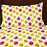 Emoji Bed Set for Sale Sutton Home Fashions (3 Piece Emoji Bed Sheet Set Twin Size Microfiber Bedding with Flat Fitted Bed Sheets Emoji Pillow Case