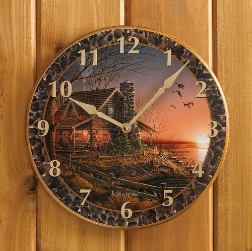Comforts of Home Round Clock by Terry -