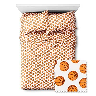 Basketball Sheet Set - Pillowfort (Twin): Home & Kitchen
