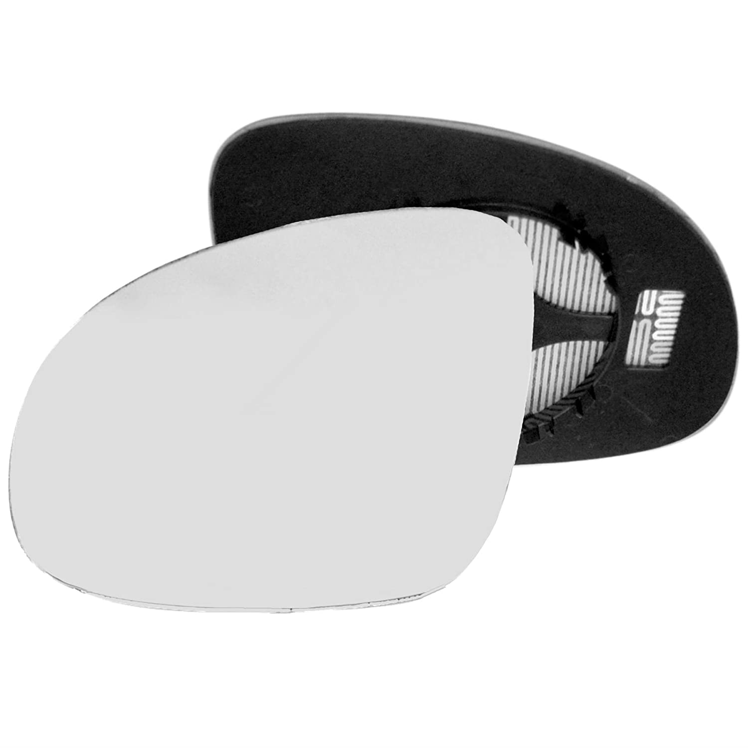 Passenger left hand side Heated wing door Silver mirror glass with backing plate #C-SHY//L-SKAYI09 Clip On