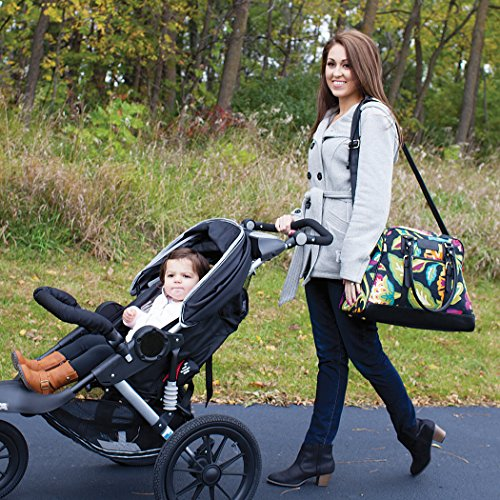 Waverly Baby by Trend Lab Panama Wave Adobe Carryall Diaper Bag, Black