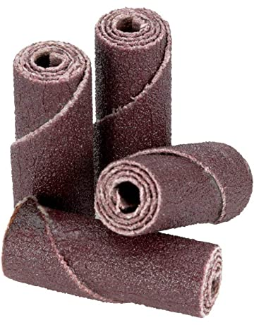 220 Lot of 100pcs    ABRASIVES STRAIGHT CARTRIDGE ROLLS 1//4 x 2 x 1//8   Grit