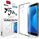 "【 ZenFone Max Plus (M1) ケース ~薄くて 軽い】 カバー ZB570TL ケース""ZenFoneの美しさを魅せる"" ~ 巧みシリーズ 存在感ゼロ [ 専用保護フィルム付き ] OVER's 貼り付け2点付き(アルコールパット, 液晶クリーナー)"
