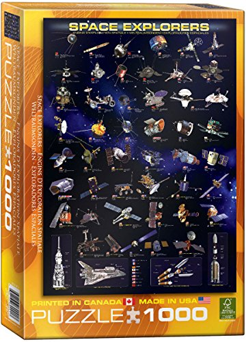 EuroGraphics Space Explorers 1000 Piece Puzzle